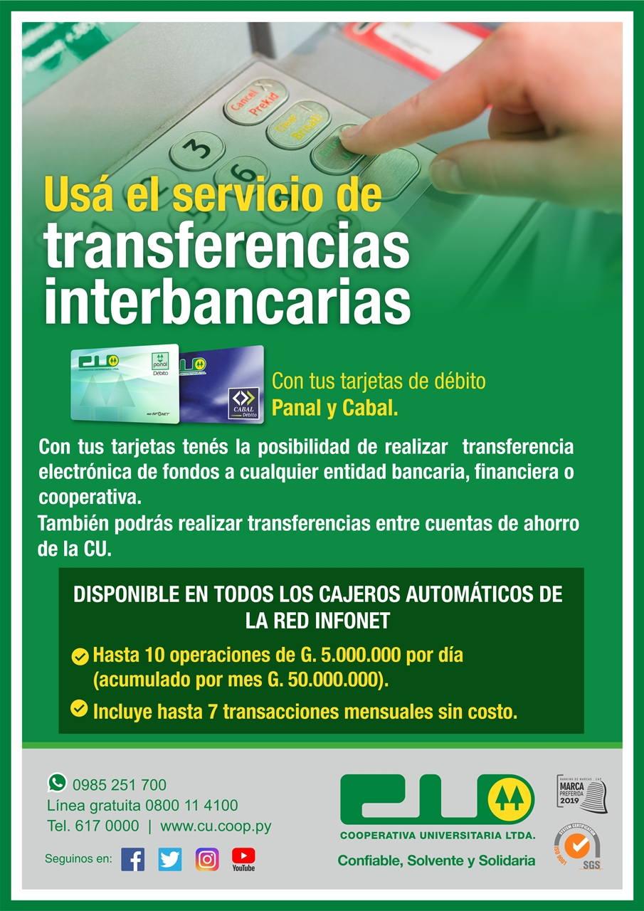 Transferencias interbancarias