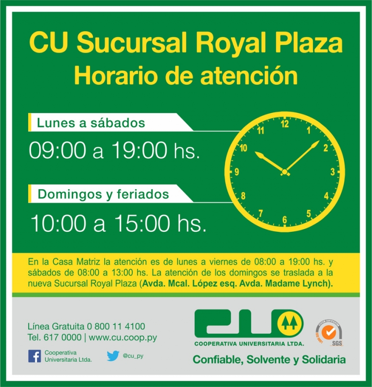 Nueva sucursal Royal Plaza